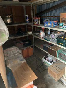 高松市内にて物置ないの不用品の回収対応しました。